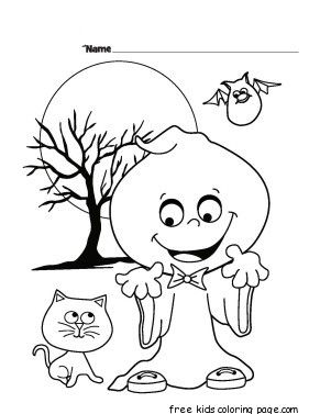 Quatang Gallery- Halloween Ghost Printable Coloring Pages For Kids Halloween Coloring Book Halloween Coloring Pages Halloween Coloring