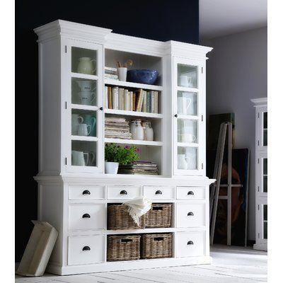 A&E Wood Designs French Restoration Brighton Oversized Set Bookcase & Reviews | Wayfair