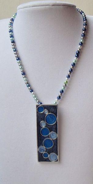 Blue Bubbles - Beaded Necklace by BeadedBazaar