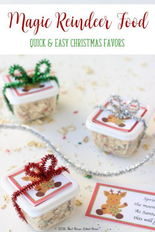 Magic reindeer food recipe and printable poem magic reindeer food these magic reindeer food favors are easy to make and are the perfect takeaway for a forumfinder Images