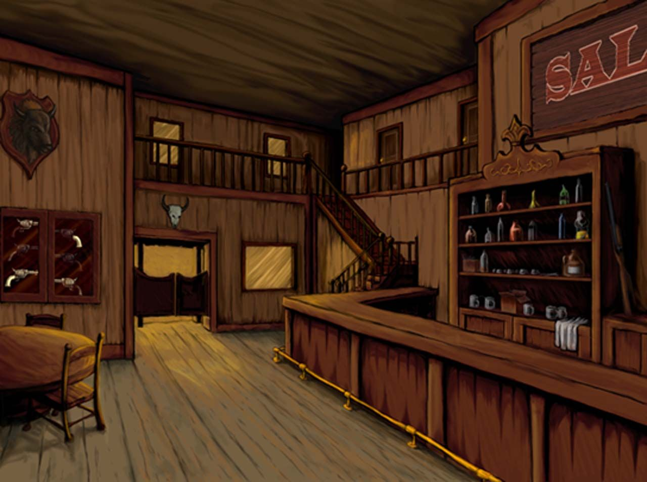 Old west saloon by on deviantart for Salon western