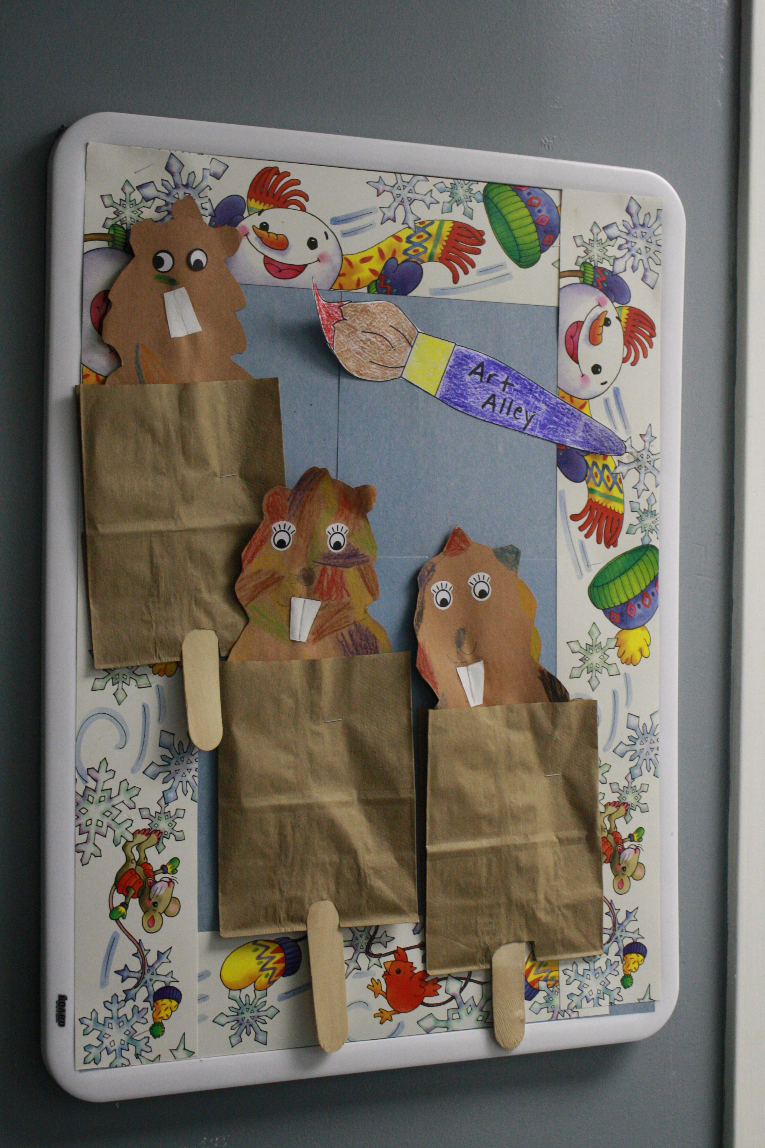 Groundhog Day Craft In Kindergarten