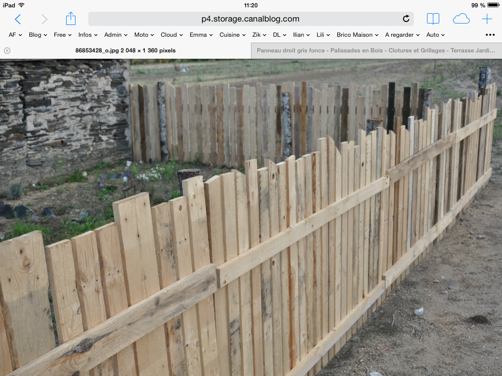 Epingle Par Olivier Sur Bricolage Amenagement Jardin Cloture Bois Palissade Bois