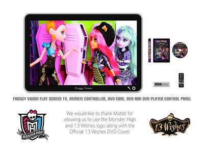 my froggy stuff how to make a doll flat screen tv with dvd player special monster high 13. Black Bedroom Furniture Sets. Home Design Ideas
