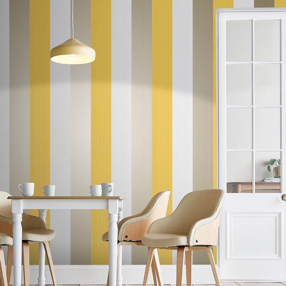 Figaro Wallpaper In Yellow From The Exclusives Collection By Graham Brown In 2021 Yellow Wallpaper Yellow Decor Living Room Yellow Accent Walls Yellow background living room