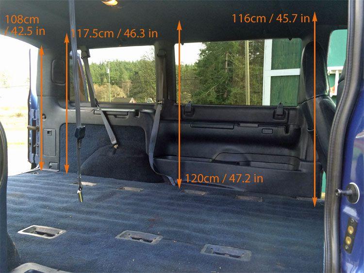 GMC Safari Astro Van Interior Measurements For Minivan Camper Conversion