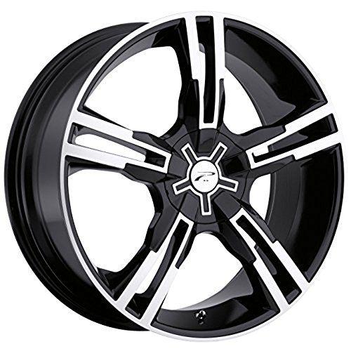 Platinum Saber 16 Black Wheel / Rim 5x100 & 5x4.5 with a ...
