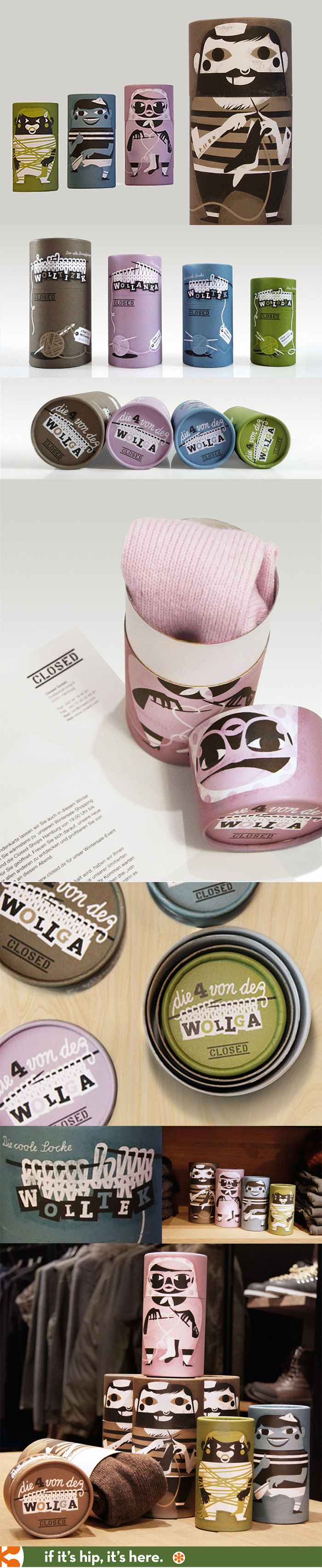 Beautiful packaging for CLOSED brand wool socks by Gürtler ...