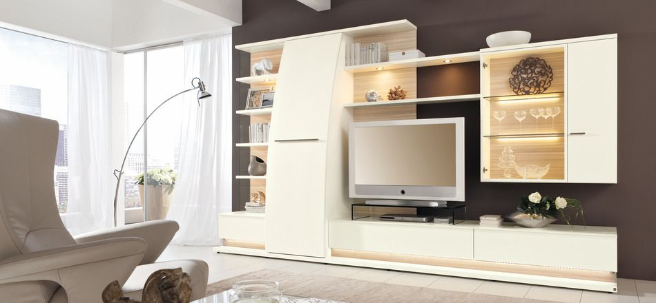 Living Room Cupboard Designs Custom Interiormodern White Media Center Contemporary Interior Design Design Decoration