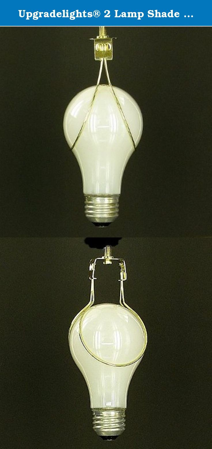Upgradelights® 2 Lamp Shade Bulb Clip Adapters - Clip on Only - No ...