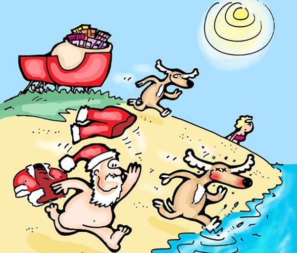 Naked santa cartoon are