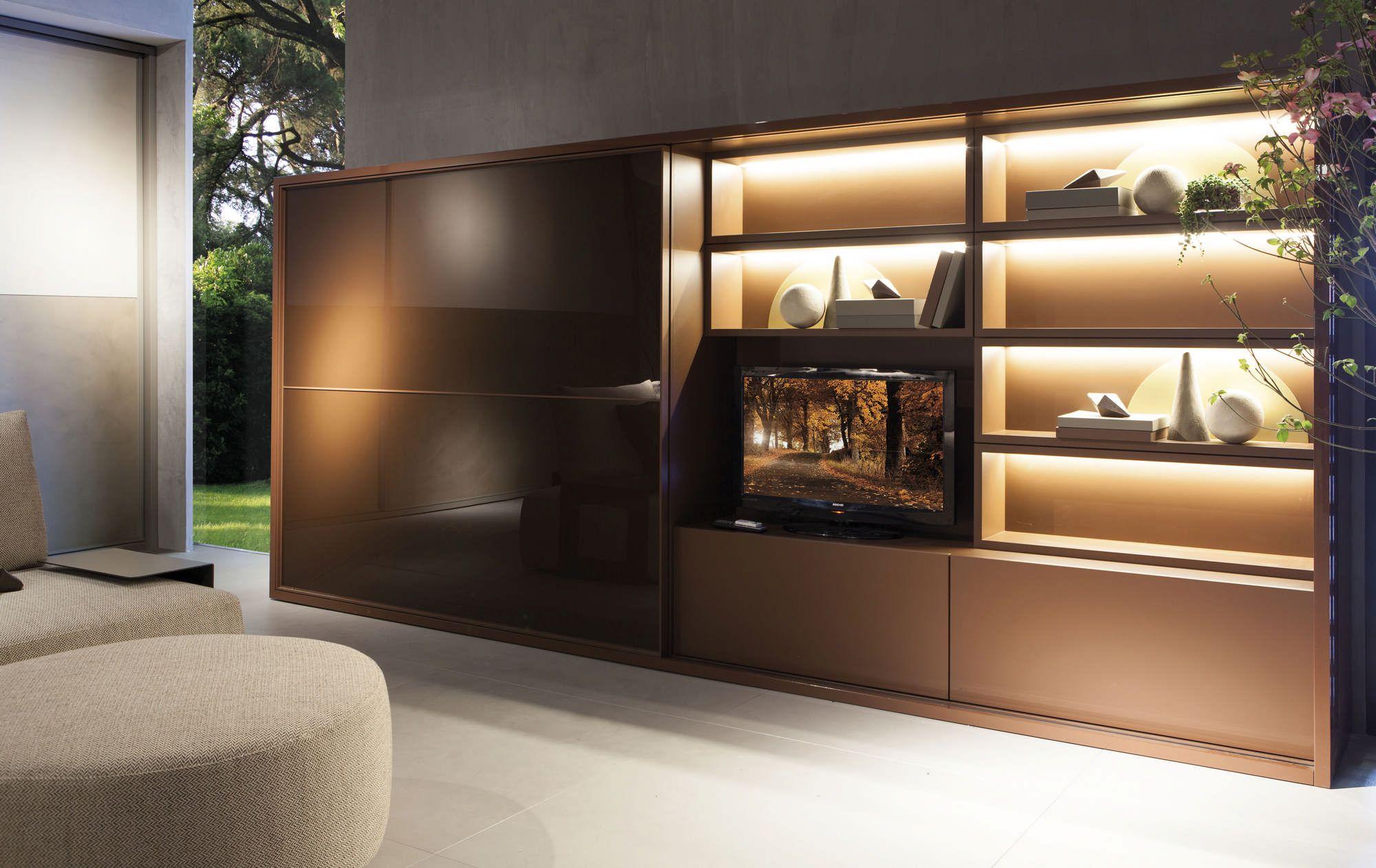 Meuble Tv Rangement Biblioth Que Design Fimes Italia Luxe  # Plan Des Meubles Tv Luxe