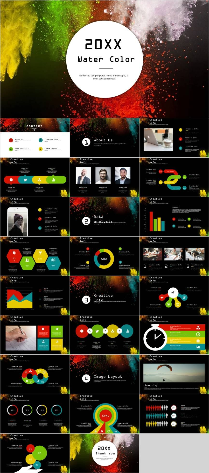 27 Creative colorful business design PowerPoint template