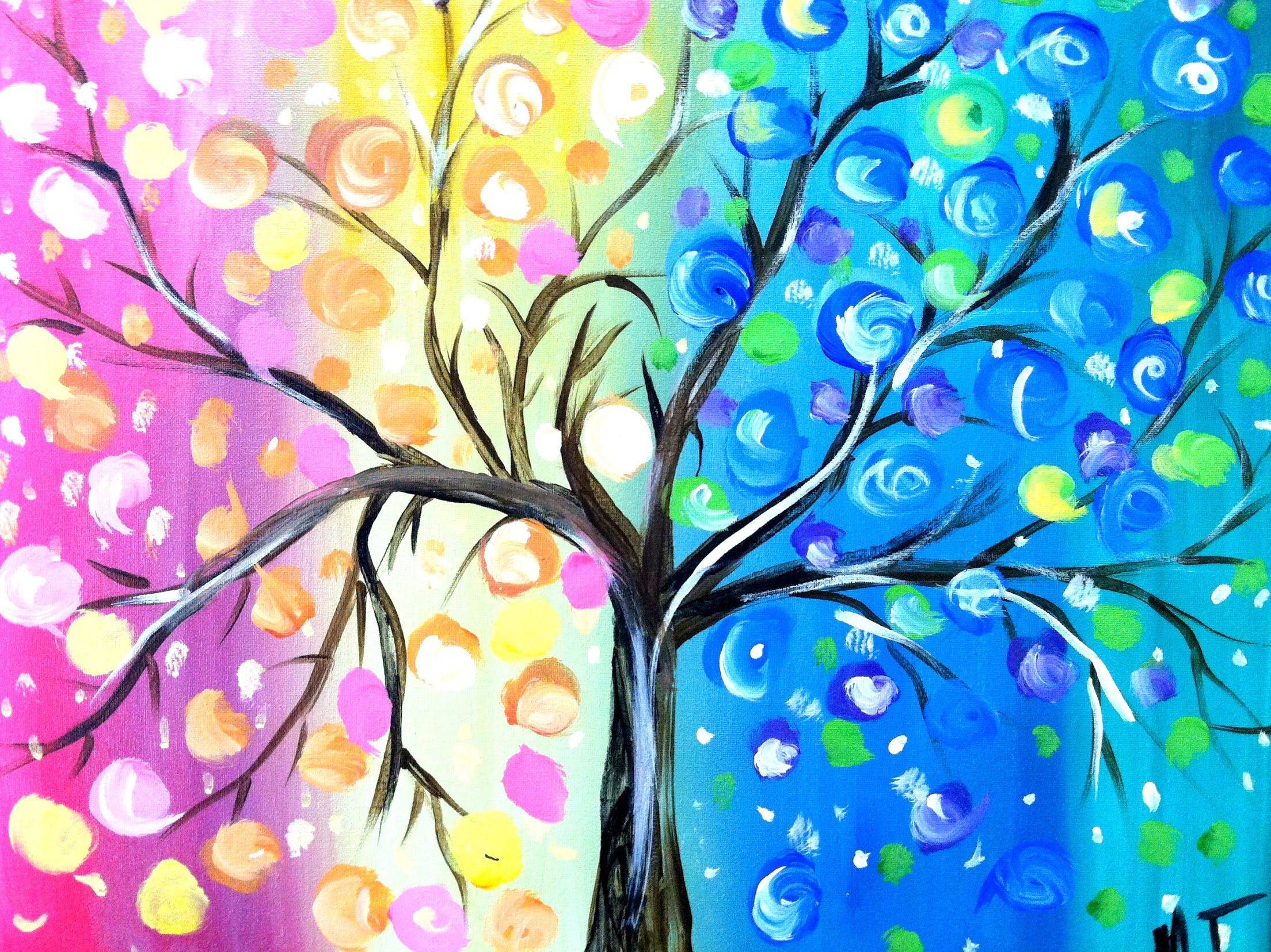 Love this 4 seasons tree we're painting this week!