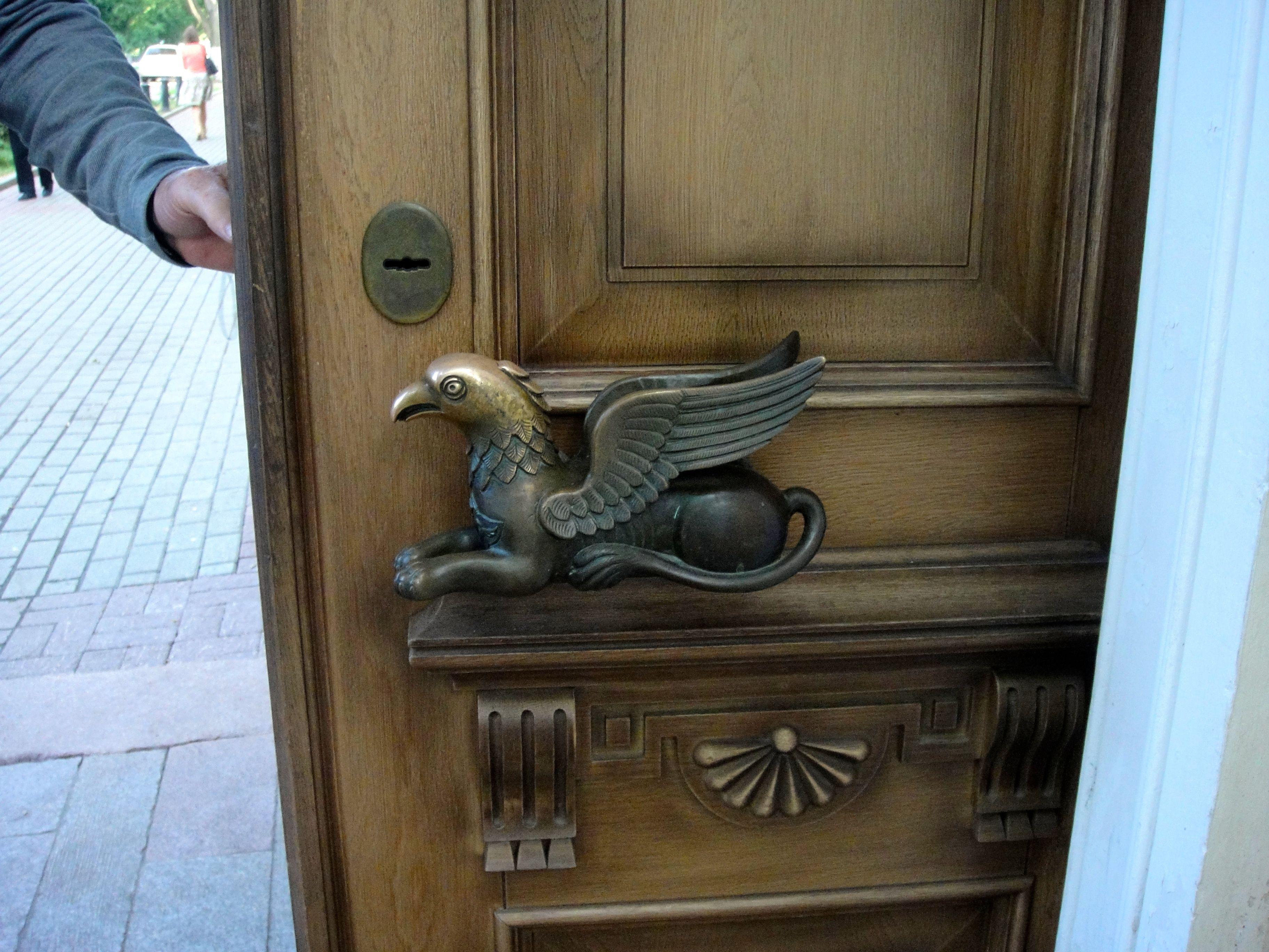 Door pull in Yaroslavl Russia art gallery Door Handles Pulls