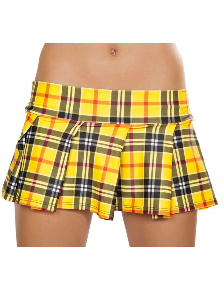 4ae5a64198d25 Pleated School Girl Skirt - Yellow