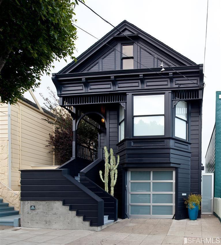 black house with under garage and front steps future. Black Bedroom Furniture Sets. Home Design Ideas