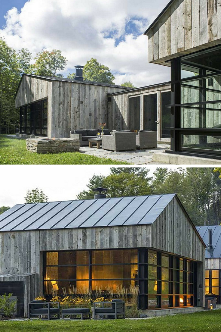 Woodshed Vermont Guest House / Birdseye Design   Guest houses ...