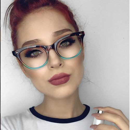 Cat Eye Vintage Retro Quot Ombre Quot Women Eyeglasses Blue Green
