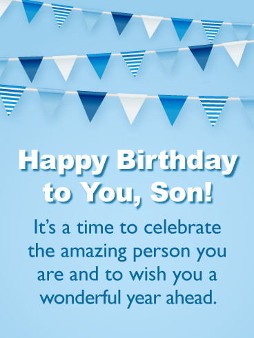 Wish You A Wonderful Year Ahead Happy Birthday Cards For Son From Father Birthday Greeting Cards By Davia Birthday Cards For Son Birthday Verses For Cards Birthday Verses
