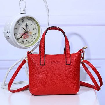 3cf0772b0656 Hot-sale designer Vintage Pure Color PU Leather Handbag Shoulder Bag For Women  Online - NewChic Mobile