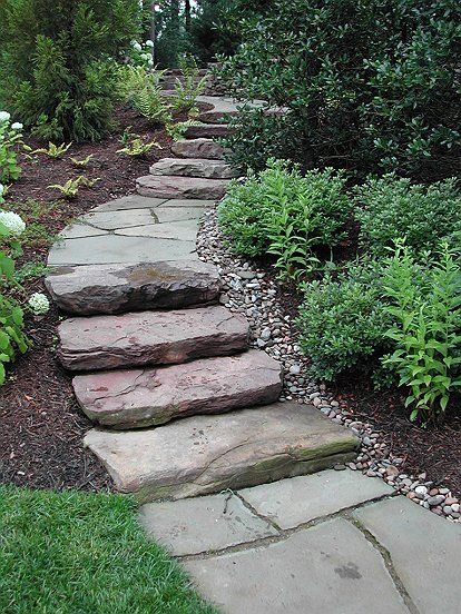 pa flagstone and steppers make a great path up a gradual on extraordinary garden stone pathway ideas to copy id=26932