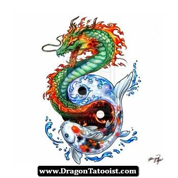 Pez Koi Y Dragon Tattoo 10  httpdragontattooistcompezkoiy