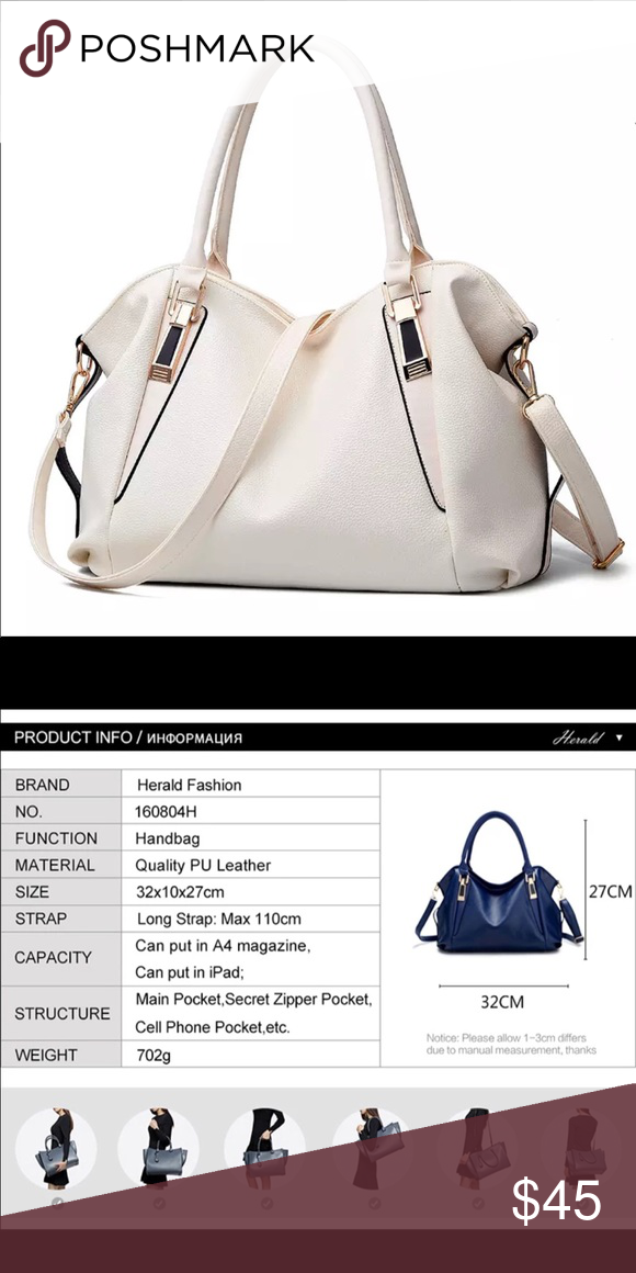 7e922743e543 Women s handbags Herald Fashion Designer Women Handbag Female PU Leather  Bags Handbags Ladies Portable Shoulder Bag Office Ladies Hobos Bag Totes  Bags ...