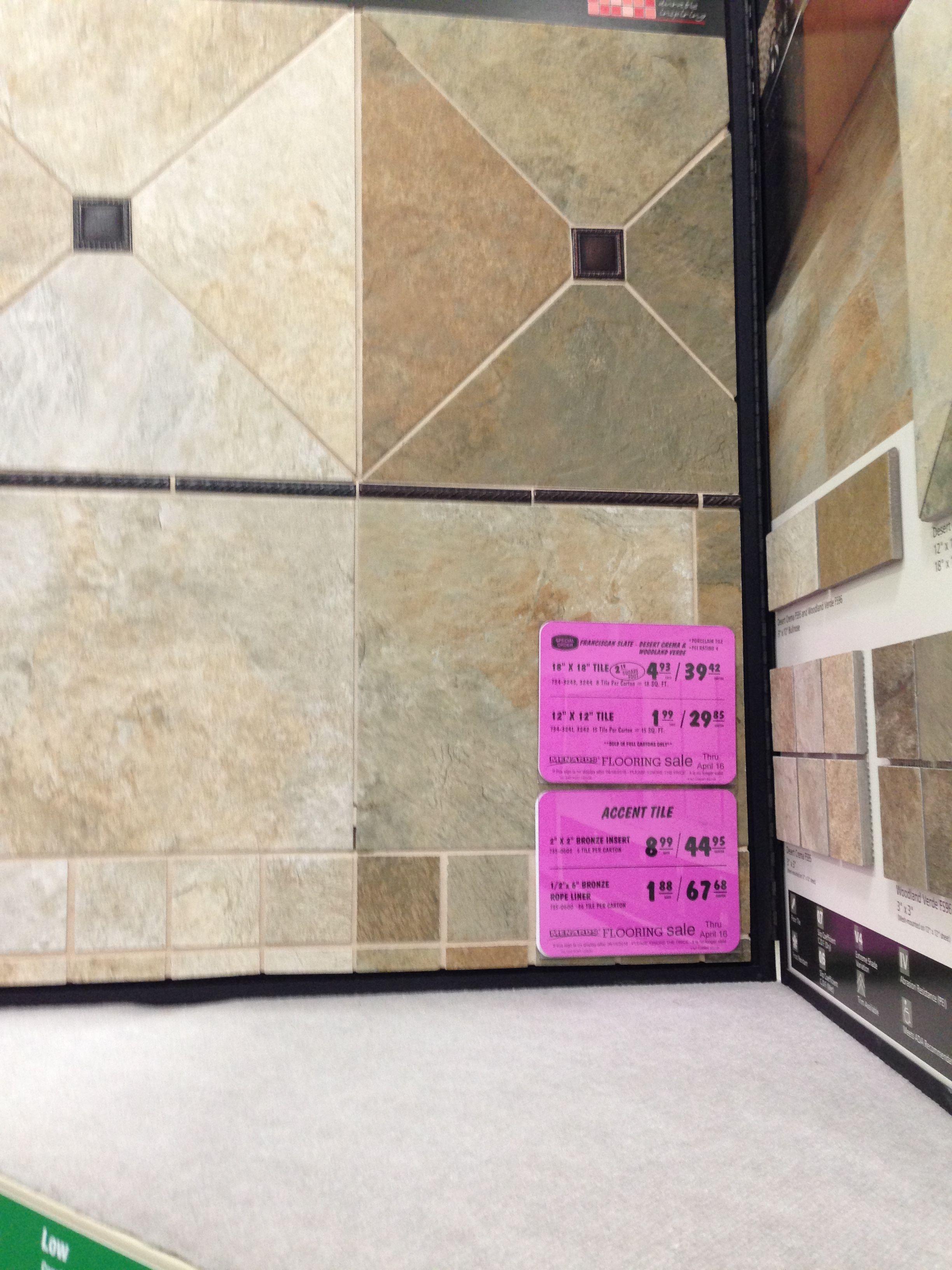 Flooring and backsplash Menards Flooring, Menards, Tile