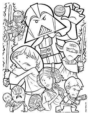 Katie Mcdee Into The Garbage Chute Flyboy Star Wars Coloring
