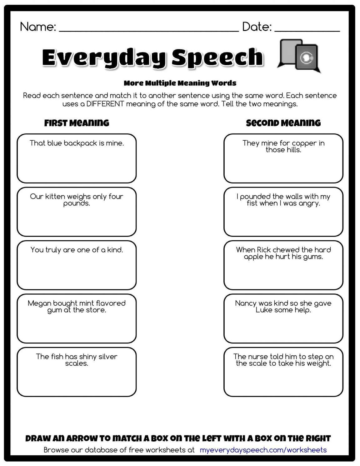 11 Reading A Dictionary Entry Worksheet