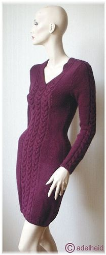 Luumuletti Cabled Dress Pattern - Free on Ravelry