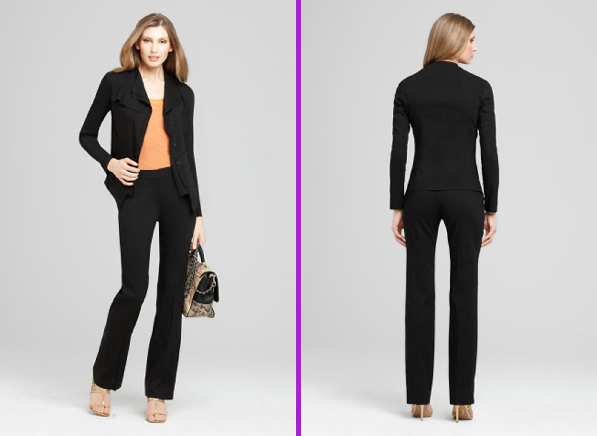 Amazing Womens Work Straight Office Pinstripe Business Dress Pants Trousers