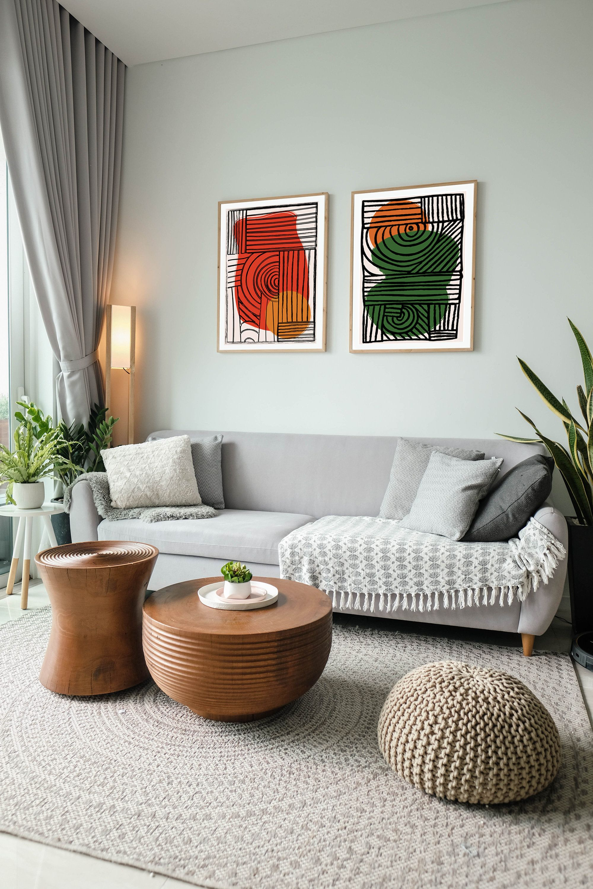 Large Digital Geometric Minimal Abstract Art Instant Etsy In 2020 Living Room Decor Apartment Boho Living Room Living Room Designs