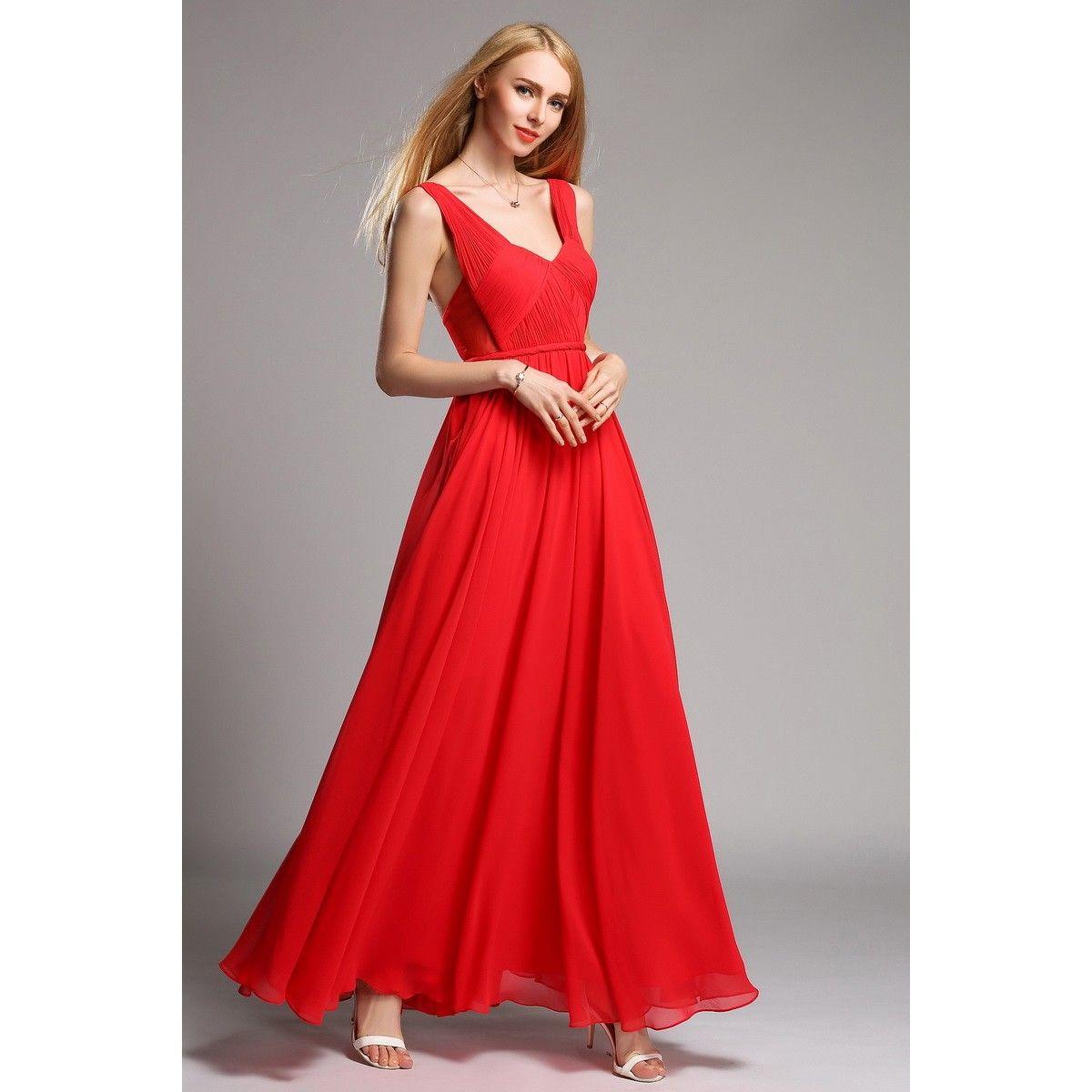 Open Back Celebrity Style Prom Dresses Mint Blue Chiffon Prom Dress