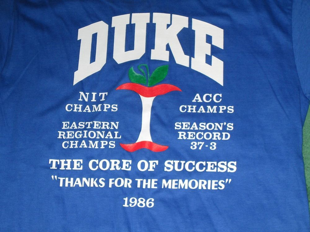 1986 DUKE Champions vintage shirt Excellent Medium Blue Devils college #Hanes #DUKE