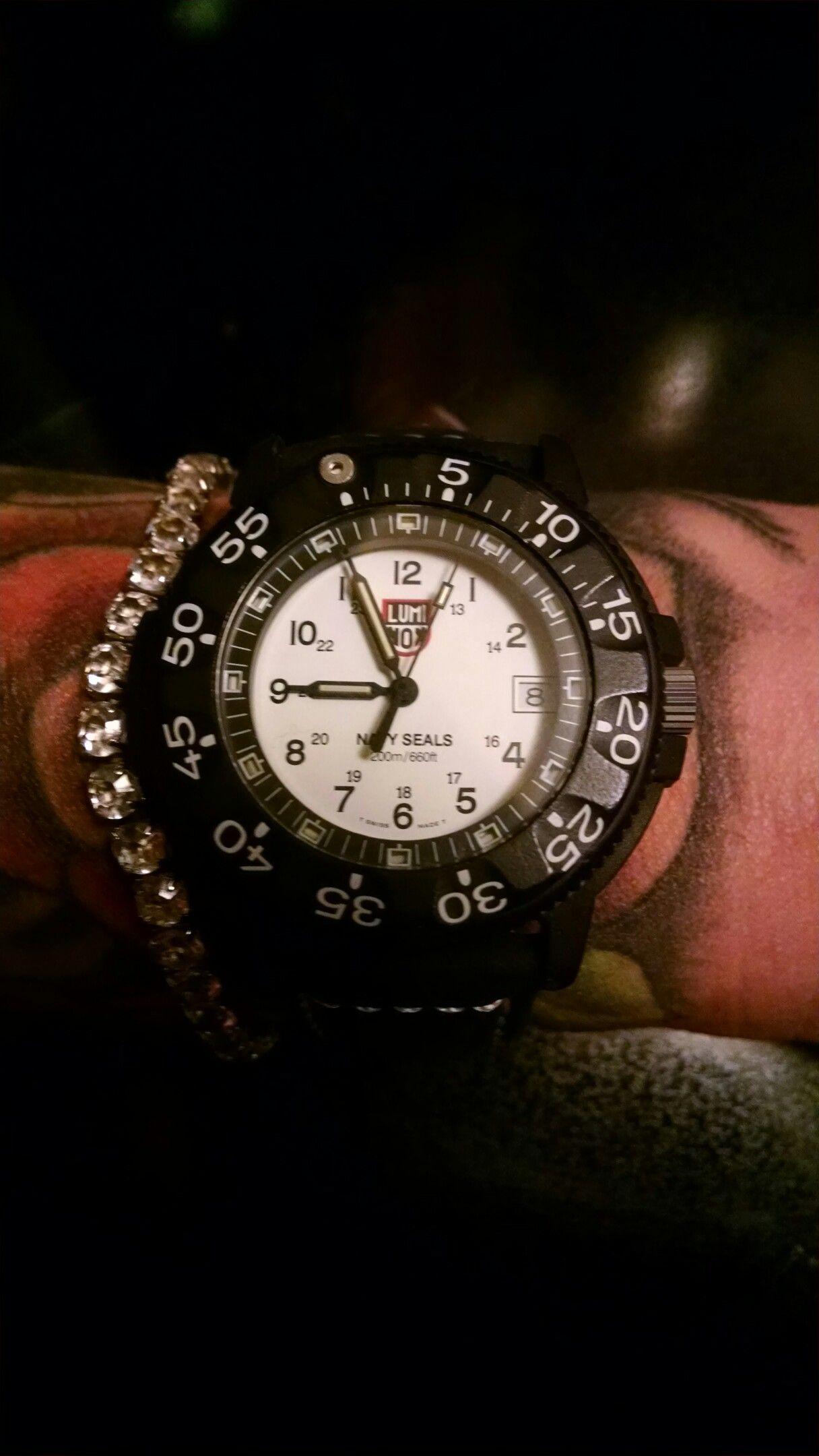 Vintage Luminox Watch White Navy Seals