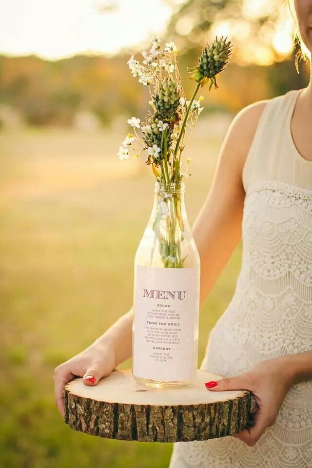 ideen f r die hochzeit men karte wedding inspirations menu in a bottle wedding inspirations. Black Bedroom Furniture Sets. Home Design Ideas