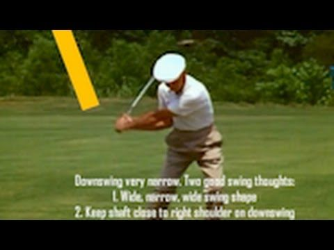 Ben Hogan classic golf swing with key move. Face on | Pro ...