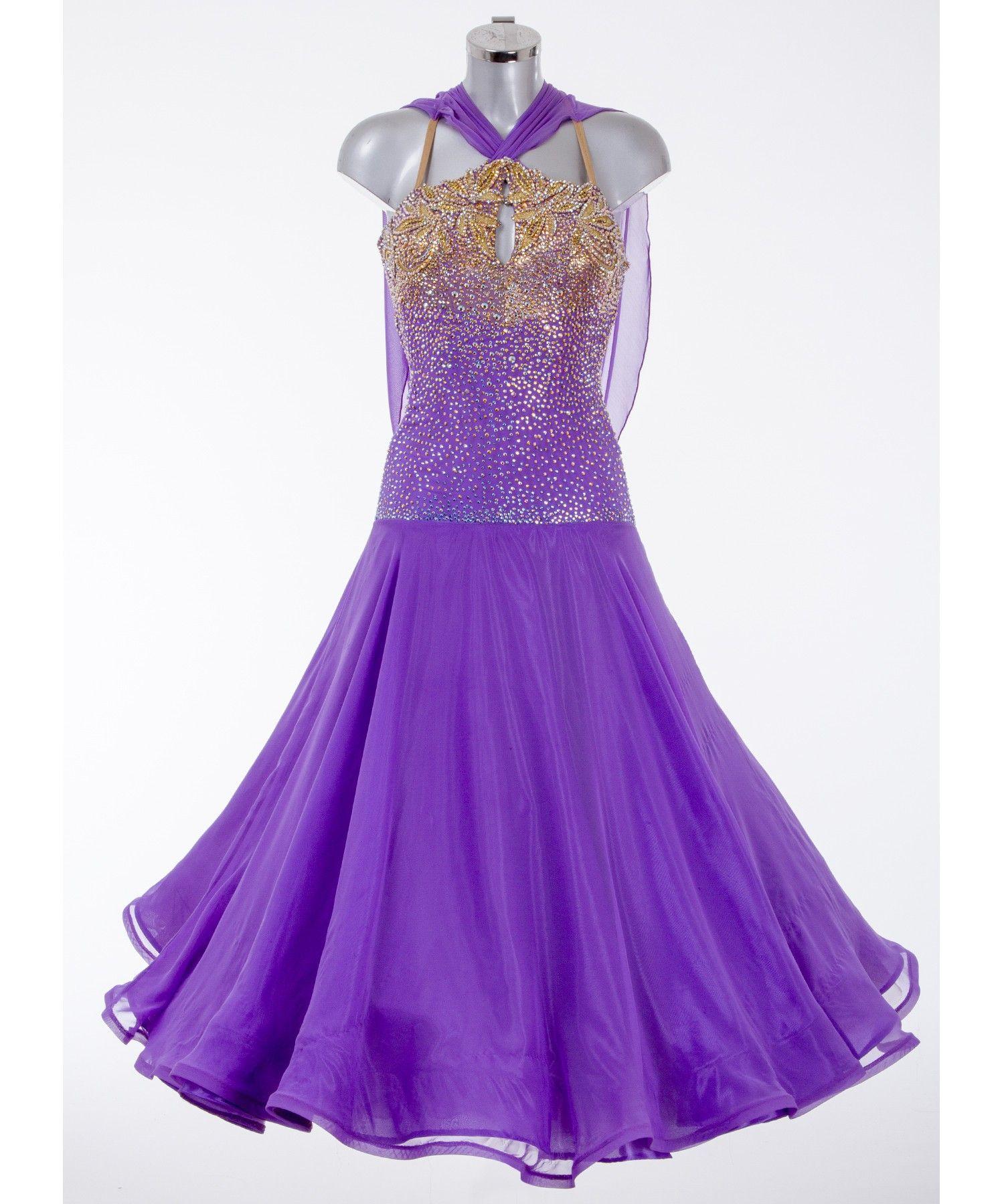 397af49124 377345 Purple Ballroom Dress