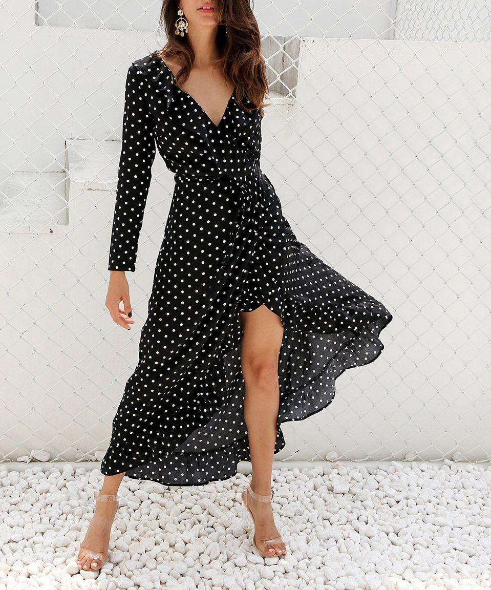 02cf2b0d219ad Take a look at this Black & White Polka Dot Midi Dress - Women today ...