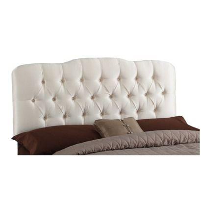 Seville Faux Silk Upholstered Headboard - Shantung Black - Twin - Skyline Furniture® #preguntassevilla