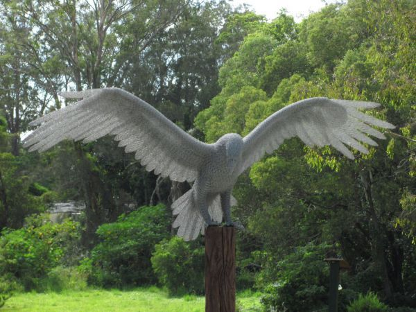 Chicken Wire Garden Or Yard / Outside And Outdoor Sculpture By Artist Ivan  Lovatt Titled: U0027Eagle Landing (Wire Mesh Life Size Garden/Yard Raptor  Flying ...