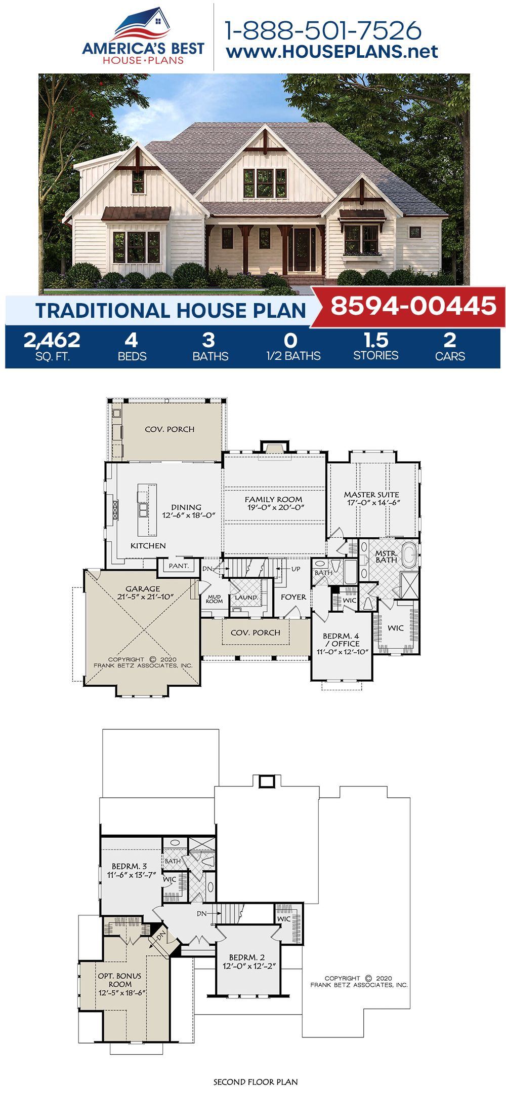 House Plan 8594 00445 Traditional Plan 2 462 Square Feet 4 Bedrooms 3 Bathrooms Pool House Plans Affordable House Plans New House Plans