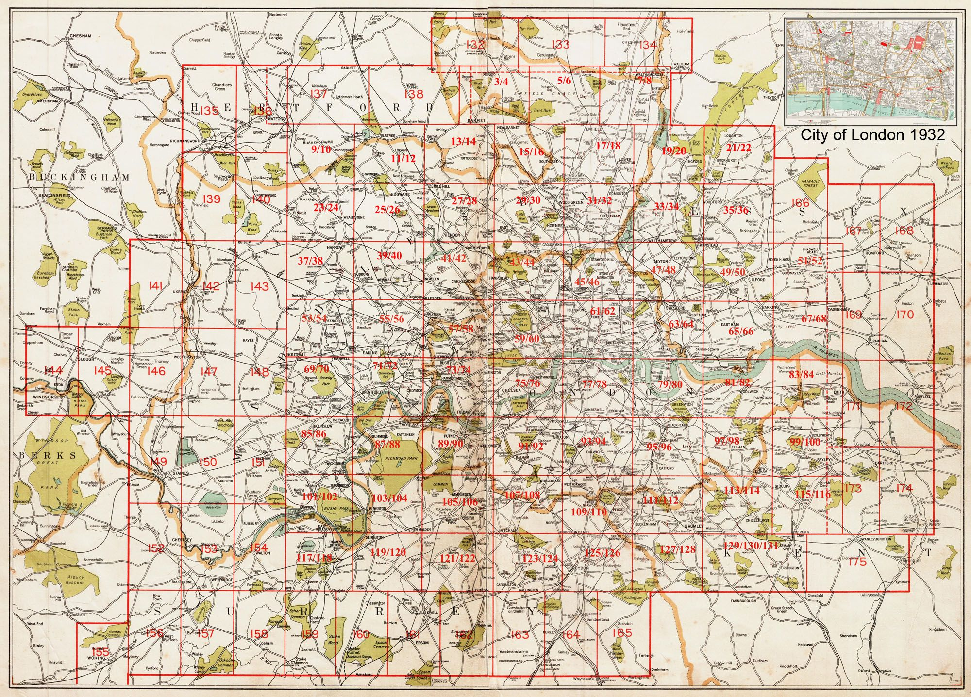 Old maps of london and greater london in 1932 as instant downloads old maps of london and greater london in 1932 as instant downloads and large format prints publicscrutiny Image collections