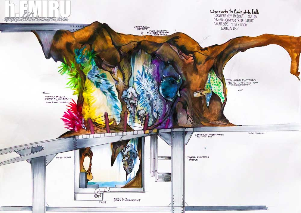 Tokyo disney sea imagineering journey to the center of the earth tokyo disney sea imagineering journey to the center of the earth attraction concept art by sciox Image collections