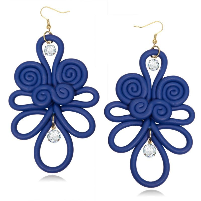 ecc394845926 Polymer Clay Chinese Knot Earrings