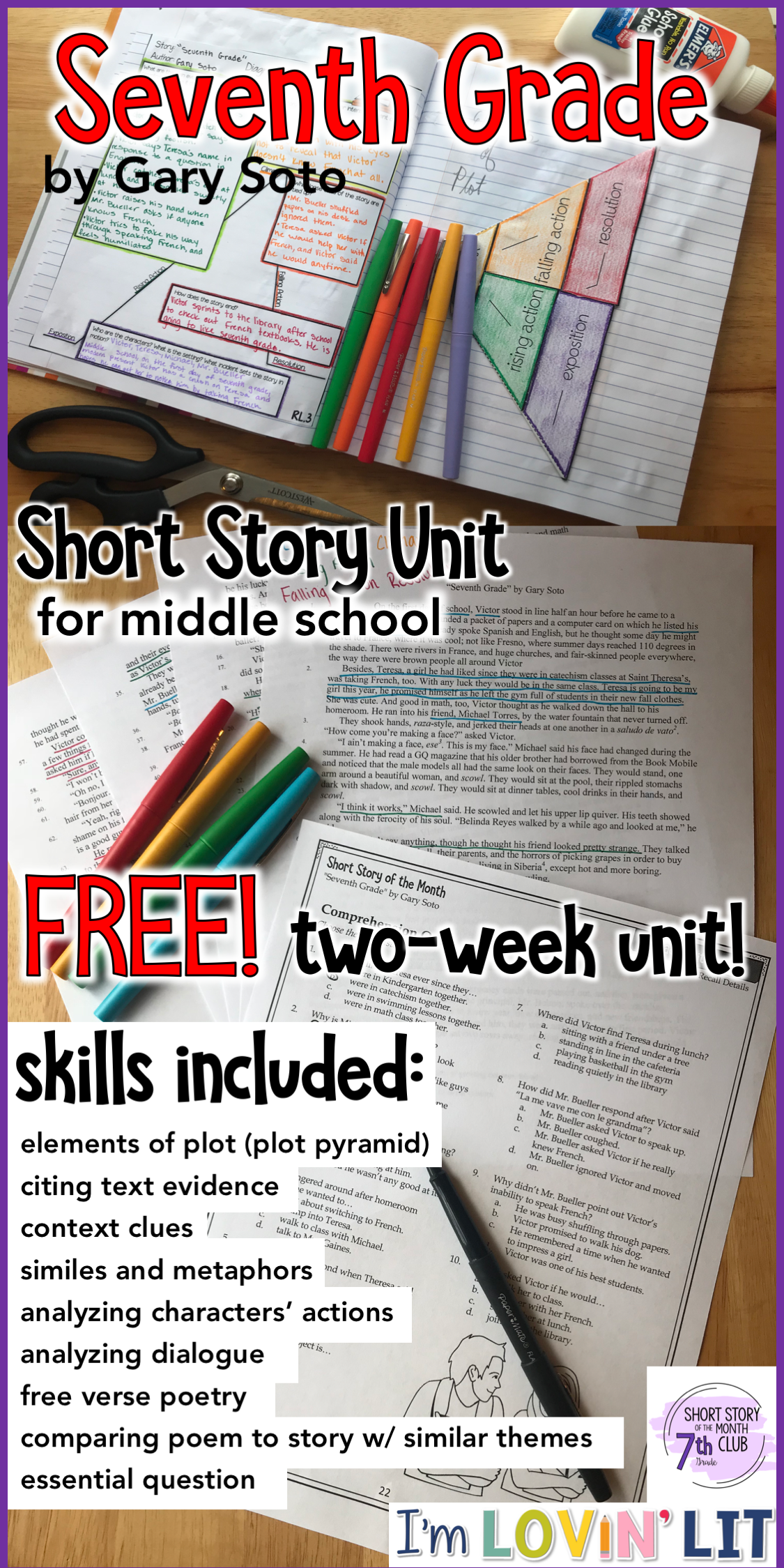 free short stories for middle school