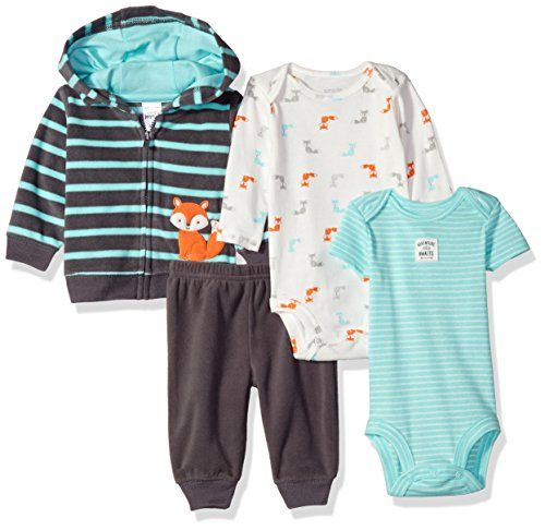 704384768018 Simple Joys by Carter's Boys Baby 4-Piece Fleece Jacket S... | Baby ...