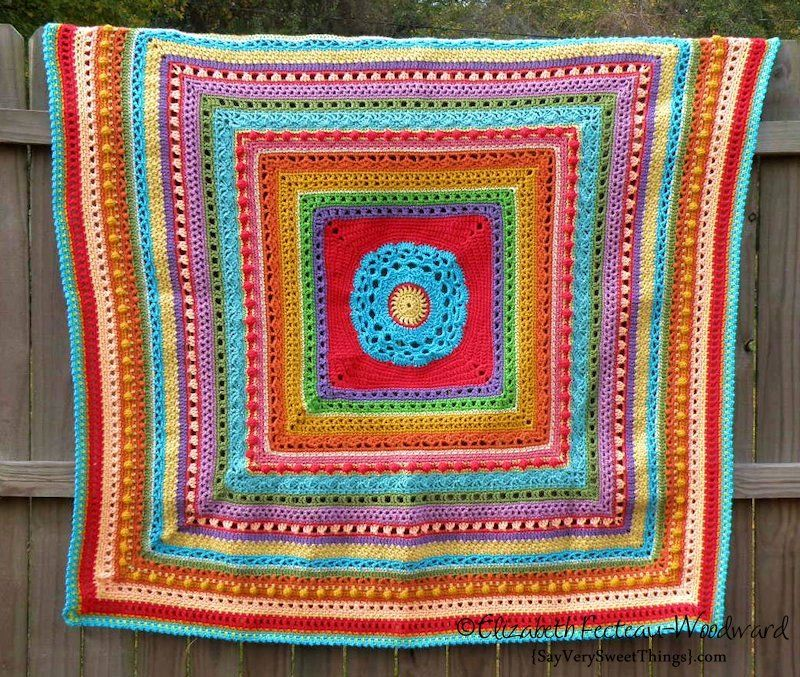 Stitch Sampler Afghan. Pattern for the afghan is from the book Afghans For All Seasons by Leisure Arts. ♥